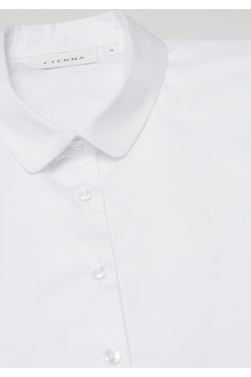 ETERNA - Snyde Skjorte - Indstiks Krave - Snyde Krave - Hvid
