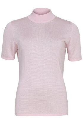 MICHA - Strikket Turtleneck T-shirt - Rosa