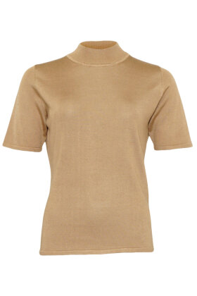 MICHA - Strikket Turtleneck T-shirt - Camel