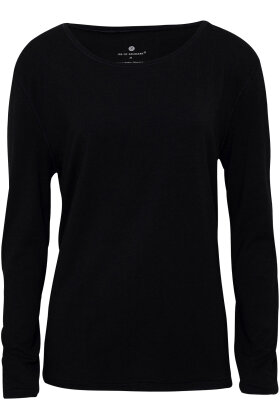 JBS of Denmark - Bamboo Blend LS Top - Langærmet T-shirt - Sort