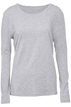 JBS of Denmark - Bamboo Blend LS Top - Langærmet T-shirt - Gråmelange