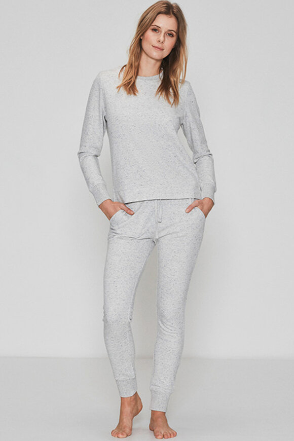 JBS of Denmark - Bamboo Blend Sweat Shirts - Yoga Bluse - Gråmelange