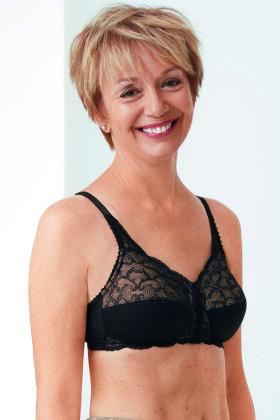 AMOENA - Ellen - Bh Uden Bøjle - Black/Nude