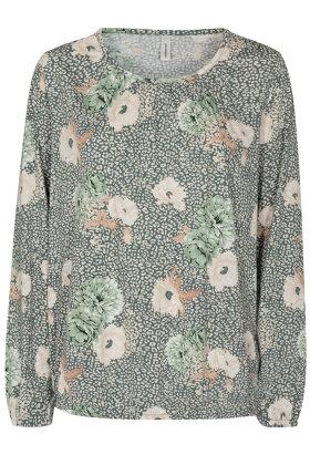 SOYACONCEPT - Felicity - Let Løs - Floralt Print - Grøn