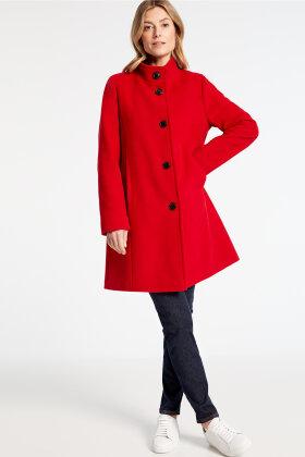 GERRY WEBER - Rød Klassisk Uldfrakke