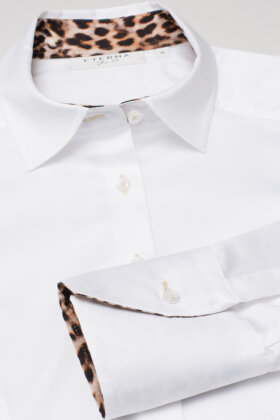 ETERNA - Hvid Skjorte - Leopard Detaljer