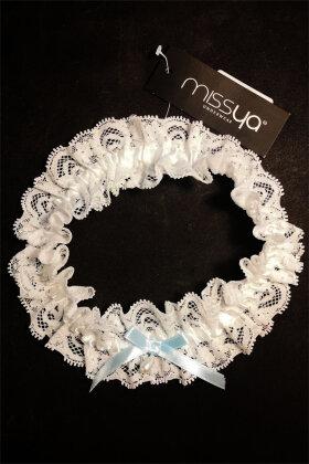 MISSYA - Strømpebånd Blonde - Stocking Elastic Band - Hvid