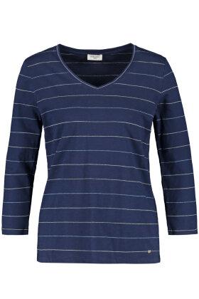 GERRY WEBER - Casual T-shirt - Stribet - Mørkeblå