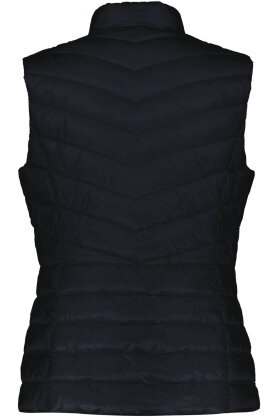 GERRY WEBER - Quiltet Vest - Satin Look - Mørkeblå