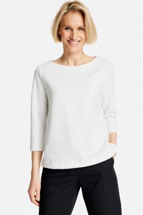 GERRY WEBER - Bluse - Vaflet strik - Off White