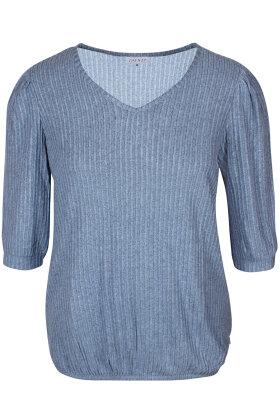 ZHENZI - Grev 650 - Stribet T-shirt - Lyseblå