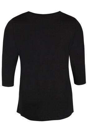 ZHENZI - Frue 645 - Viskose T-shirt - Sort