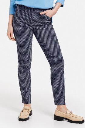 GERRY WEBER - City-Style Bukser - Mønstret - Mørkeblå