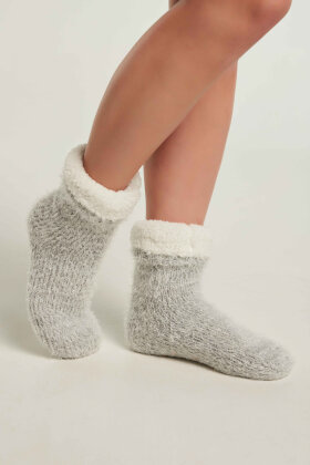 FEMILET - Hyggesokker Skridsikre - Warm Soft Socks - Grå