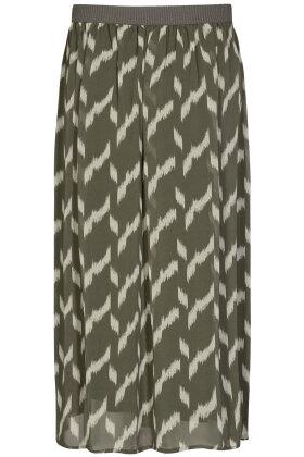 SOYACONCEPT - Ohana 2 - Print Nederdel - Army Grøn