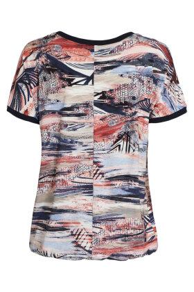BRANDTEX - Løs T-shirt - Multiprint - Mørkeblå