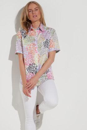 ETERNA - Skjorte Kortærmet Dyreprint - Pink