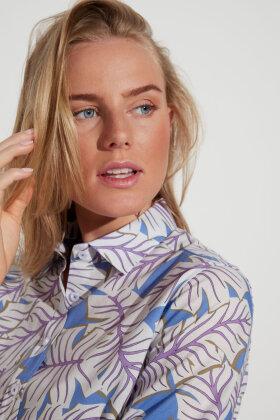 ETERNA - Floral Farverig Skjorte - Lilla