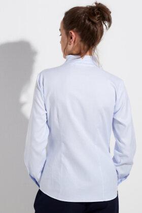 ETERNA - Jaquard Vævet Skjorte - Lyseblå