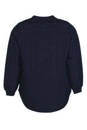 ZHENZI - Amme 600 - Quiltet Kort Jakke - Mørkeblå