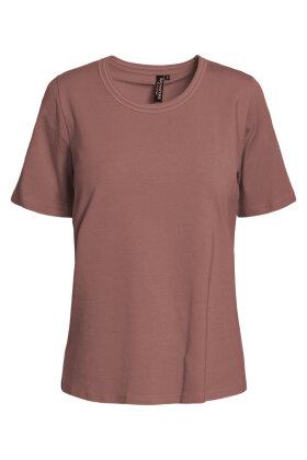 SIGNATURE - Finere Basis T-shirt - Gammel Rosa