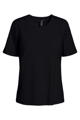 SIGNATURE - Finere Basis T-shirt - Sort