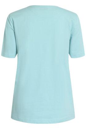 BRANDTEX - Øko T-shirt - Print - Turkis