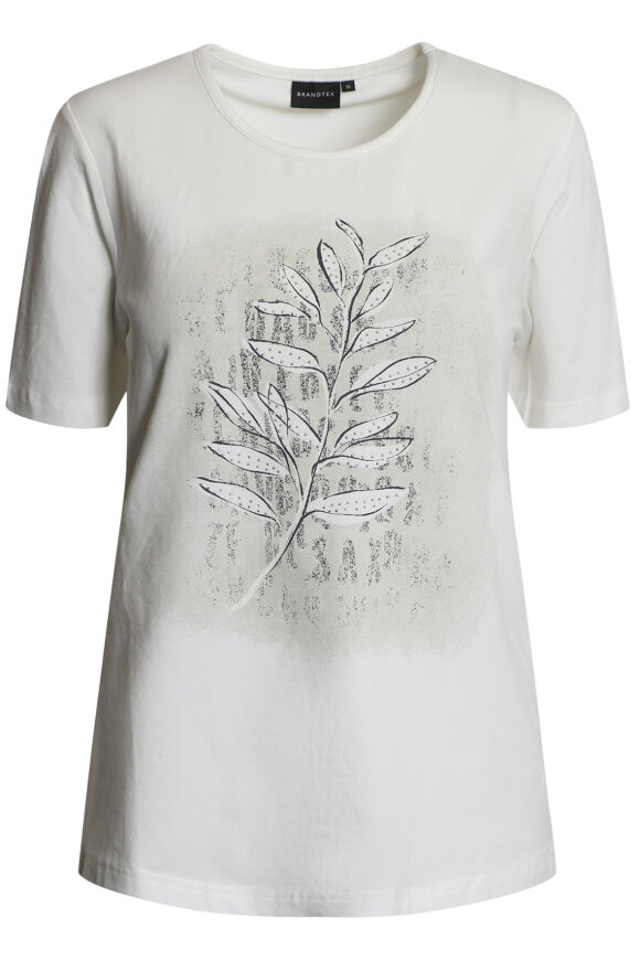 BRANDTEX - Øko T-shirt - Print - Off White