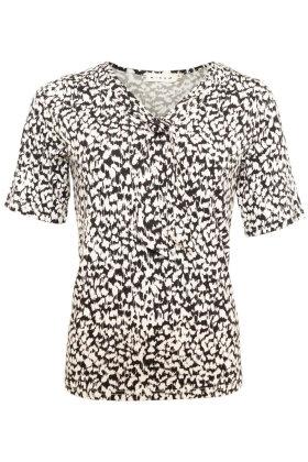 MICHA - Sejler T-shirt - Print - Sort