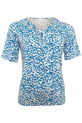 MICHA - Sejler T-shirt - Print - Blå