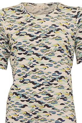 MICHA - T-shirt Grafisk Print - Blå