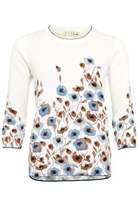 MICHA - Pullover - Bomulds Strik - Blå