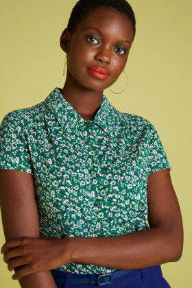 KING LOUIE - Blouse Perris - Grønt Print