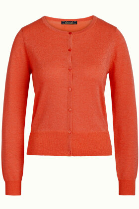 KING LOUIE - Cardi Roundneck Organic Lapis - Orange