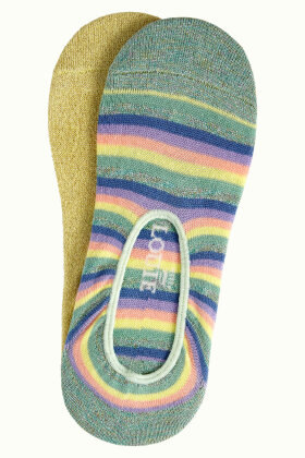 KING LOUIE - Footies Sokker 2-Pak Dream Stripe - Gul