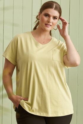 ZHENZI - Alberta 813 - Basis T-shirt - Hvid