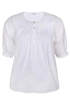 ZHENZI - Sala 295 - Bluse med Smock - Hvid