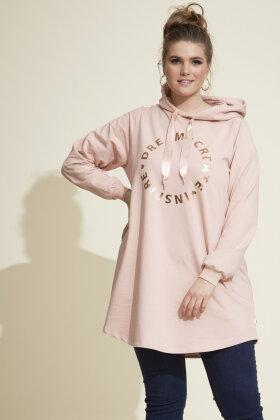 ZHENZI - Sire 988 - Sweatshirt Tunika - Gammel Rosa