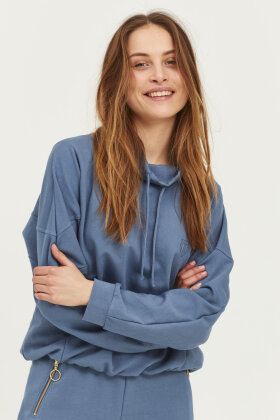 PULZ - Pz Isabell Sweatshirt - Casual Loose Fit - Blå
