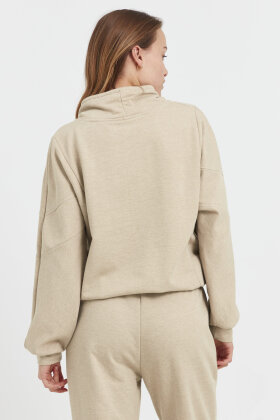 PULZ - Pz Isabell Sweatshirt - Casual Loose Fit - Sand