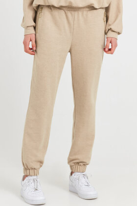 PULZ - Pz Isabell Sweatpants - Casual Loose Fit - Sand