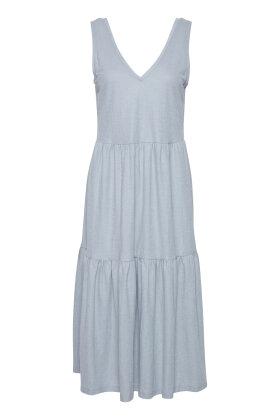 PULZ - Pz Amelia Dress Long - Casual Kjole - Lyseblå