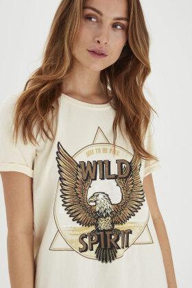 PULZ - Pz Gudrun T-shirt - Sand