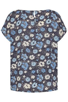 SOYACONCEPT - sc Solea 26 - Crepe T-shirt - Blå