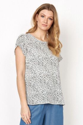 SOYACONCEPT - sc Solea 27 - Crepe T-shirt - Off White