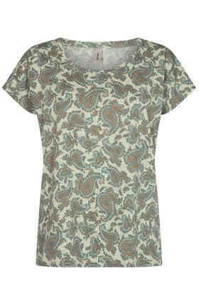 SOYACONCEPT - sc-Felicity AOP 312 - T-shirt - Blå/Grøn