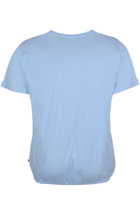 ZHENZI - Baci 212 - Basis T-shirt - Lyseblå