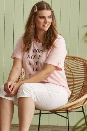 ZHENZI - Baci 211 - Basis T-shirt - Lyseblå