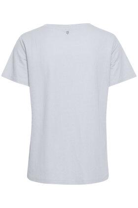 PULZ - Pz-Amelia T-shirt - Lyseblå