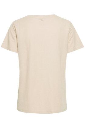 PULZ - Pz-Amelia T-shirt - Sandfarvet